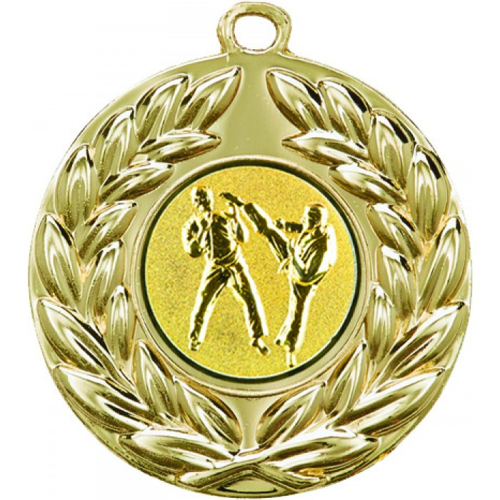 50MM GOLD SPARRING MARTIAL ARTS MEDAL